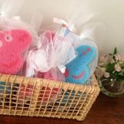 Lembrancinha: esponjas de banho