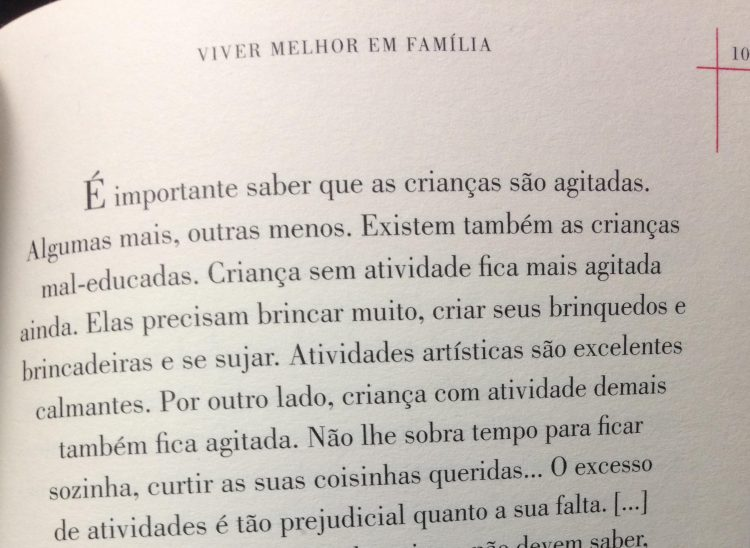 """Trecho do livro """"Viver Melhor em Família"""", da psicóloga Betty Monteiro"""