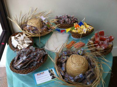 decoração de mesa de festa junina