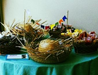 decoração festa chapéu de palha