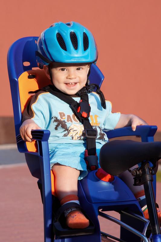 © Nataliya Hora   Dreamstime.com - Smiling baby in bicycle seat