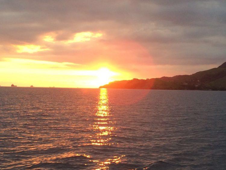 Pôr do sol em Ilhabela