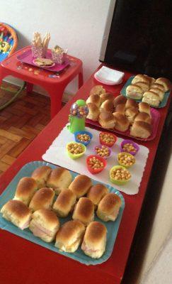 Comidinhas para festa infantil