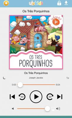Audiolivro infantil Ubook