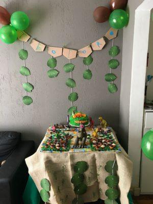 Festa pequena, sem espaço, sem muitos recursos, mas com muito amor!