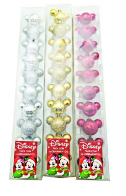 Pack com 10 ornamentos Disney, à venda no Walmart, R$ 9,90