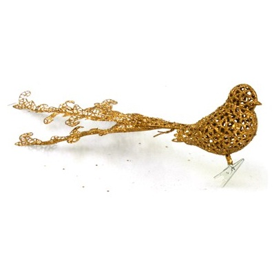 Pick de passarinho de 40 cm, vendido na loja Rei do Armarinho, por R$ 6,10 (várias cores)