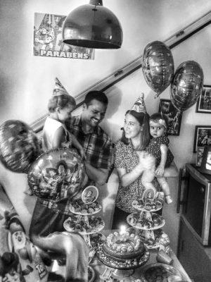 Festa em casa na comemoração de 3 anos do Teodoro