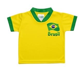 camiseta infantil brasill