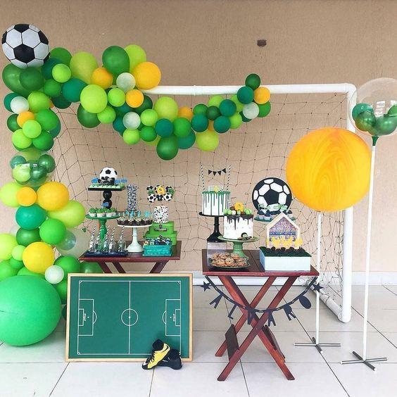 festa infantil tema futebol