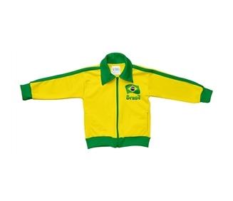 jaqueta brasil infantil