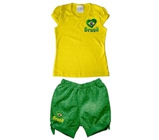 uniforme brasil menina